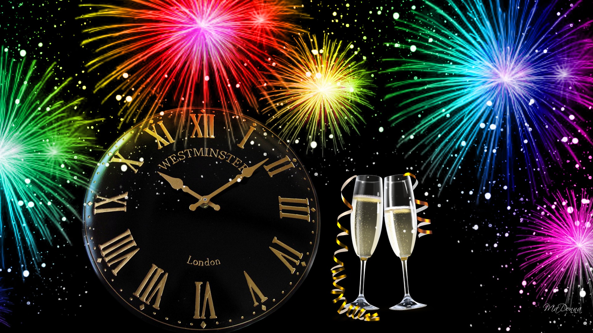 New Years Eve Clock Wallpapers Happy Holidays 1920x1080