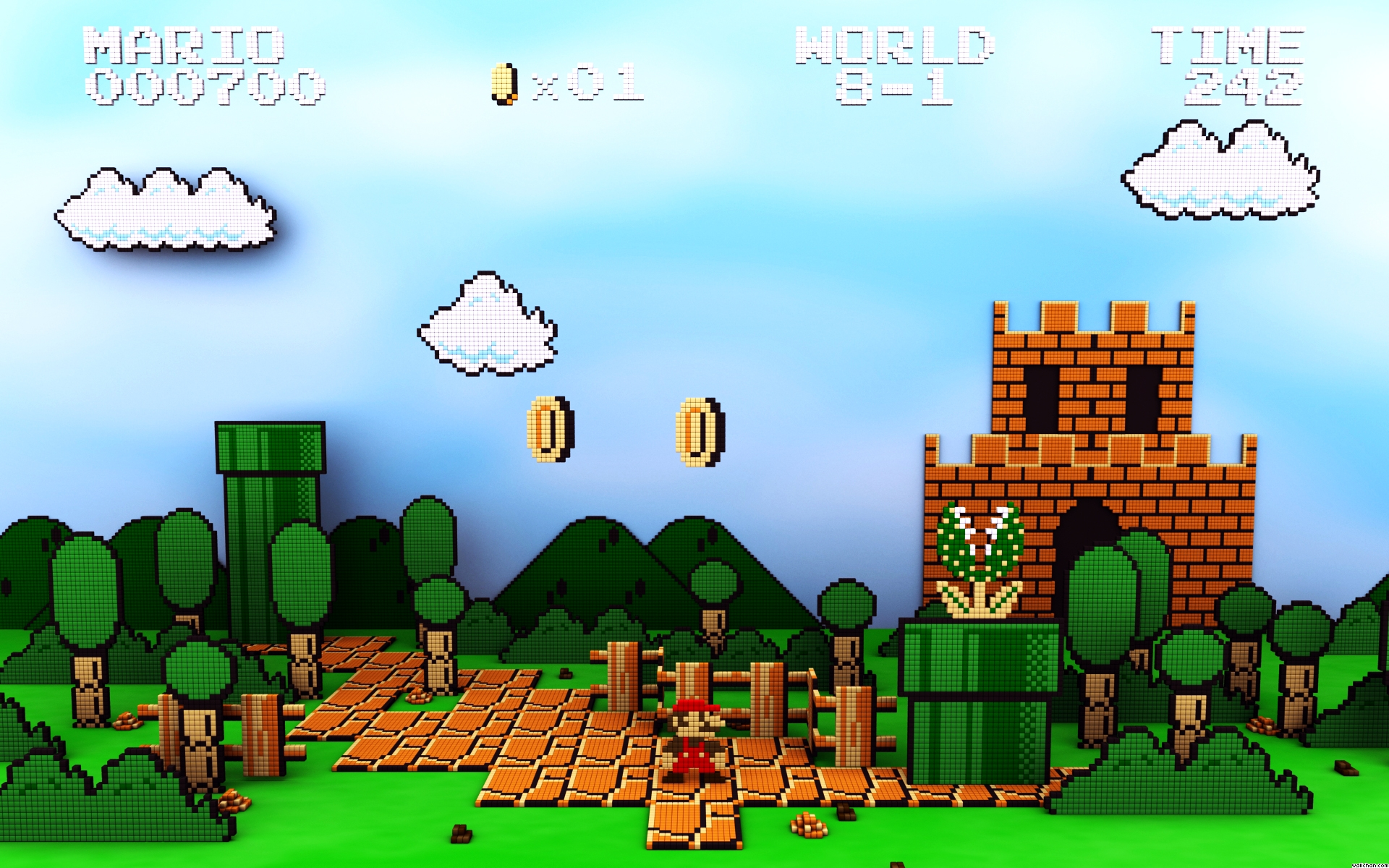 Mario Brothers WallpapersHD Wallpapers HTML code Nes Games Wallpaper