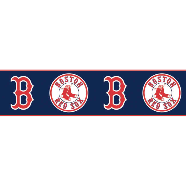 Dark Blue Red ZB3323BD Boston Red Sox Wallpaper Border   Baby 650x650