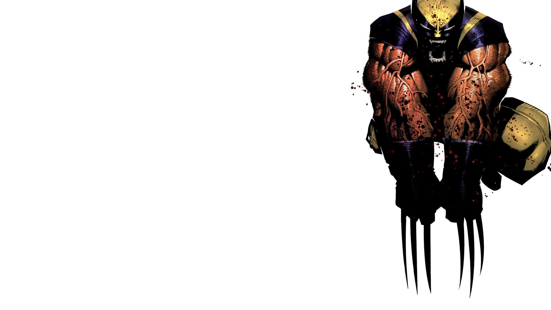 Wolverine Marvel Comics white background wallpaper 1920x1080 1920x1080