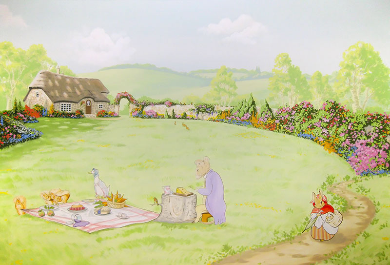 Beatrix potter wallpaper wallpapersafari for Beatrix potter mural wallpaper