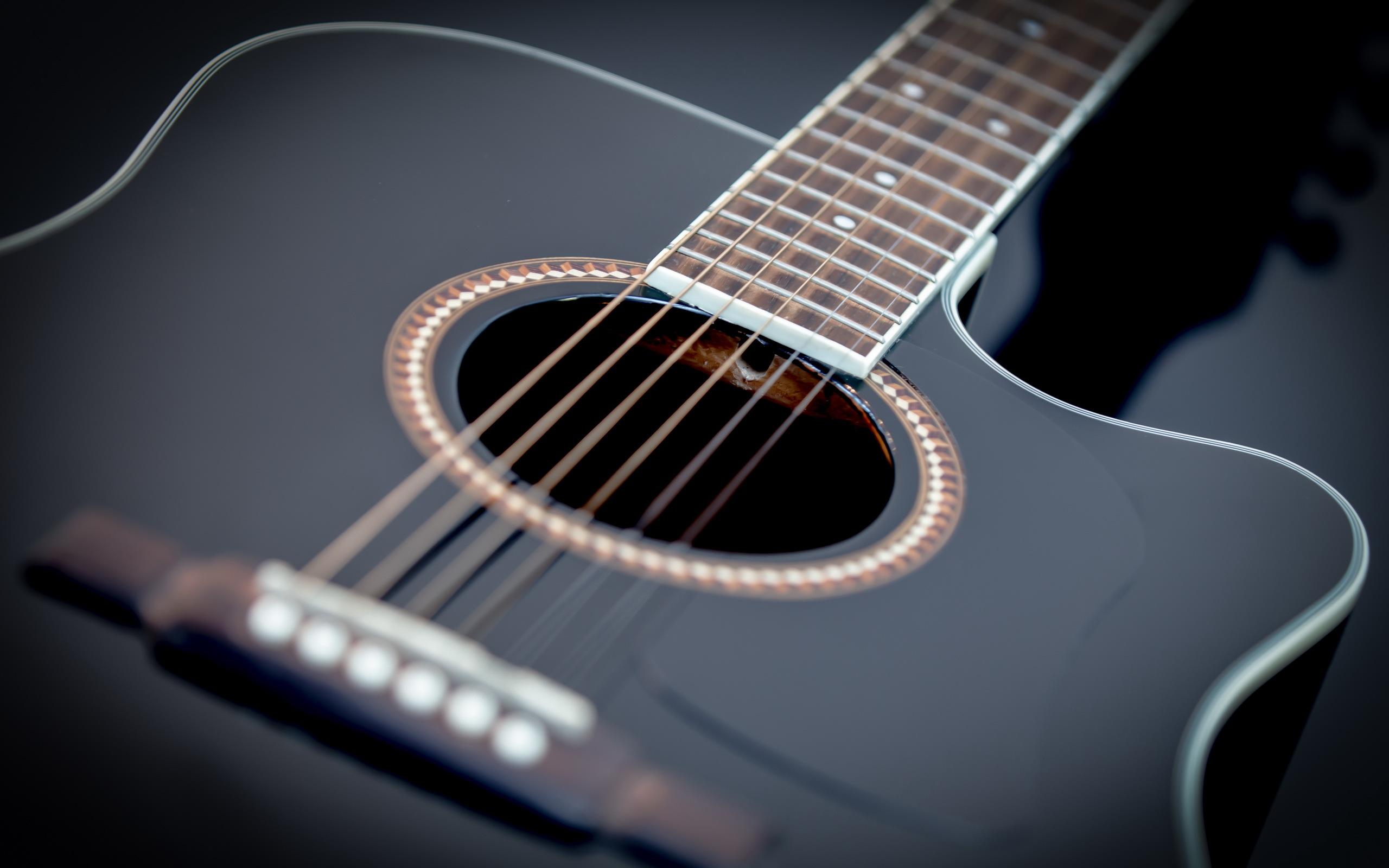 Free Download Black Guitar Hd Wallpaper 2560x1600 For Your Desktop Mobile Tablet Explore 46 Hd Guitar Wallpapers Acoustic Guitar Wallpaper Hd Guitar Wallpapers 1920x1080 Widescreen Guitar Background Wallpaper