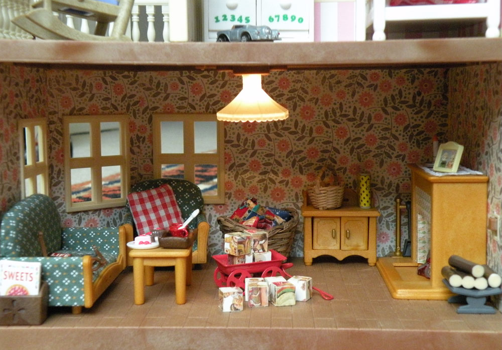 Calico Critters Sylvanian Families Luxury Townhouse Custom Wallpaper 1000x697