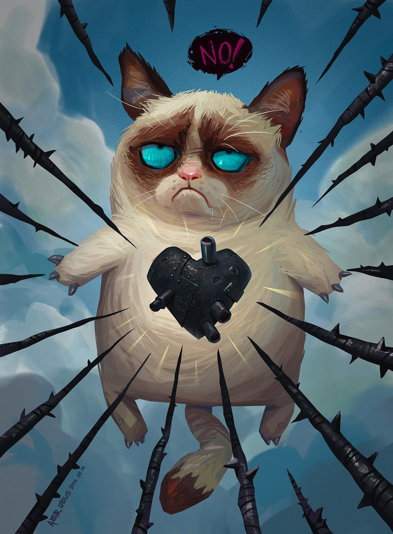 Grumpy Cat Valentine by artursadlos 767x1042