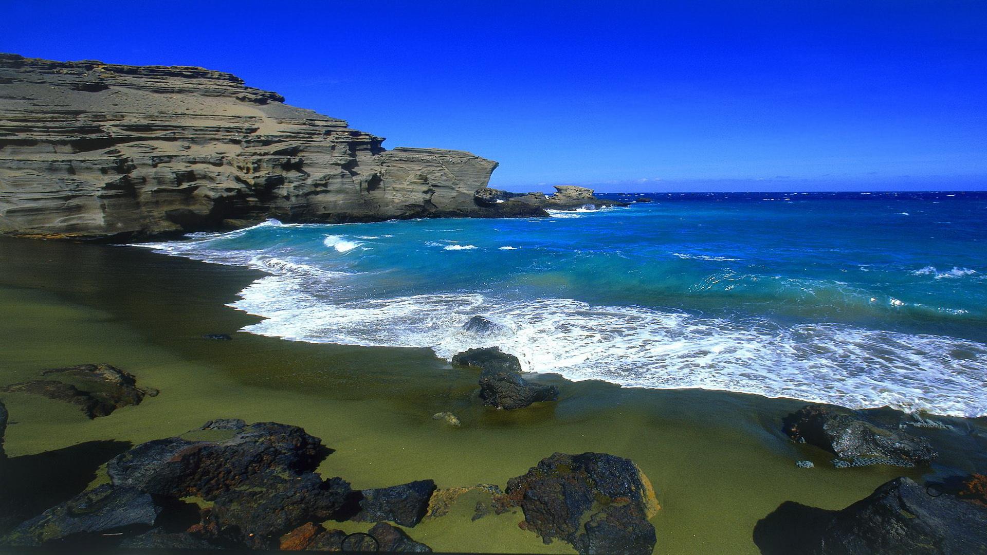 Hawaii Island Wallpaper on Hawaiian Green Sea Turtle
