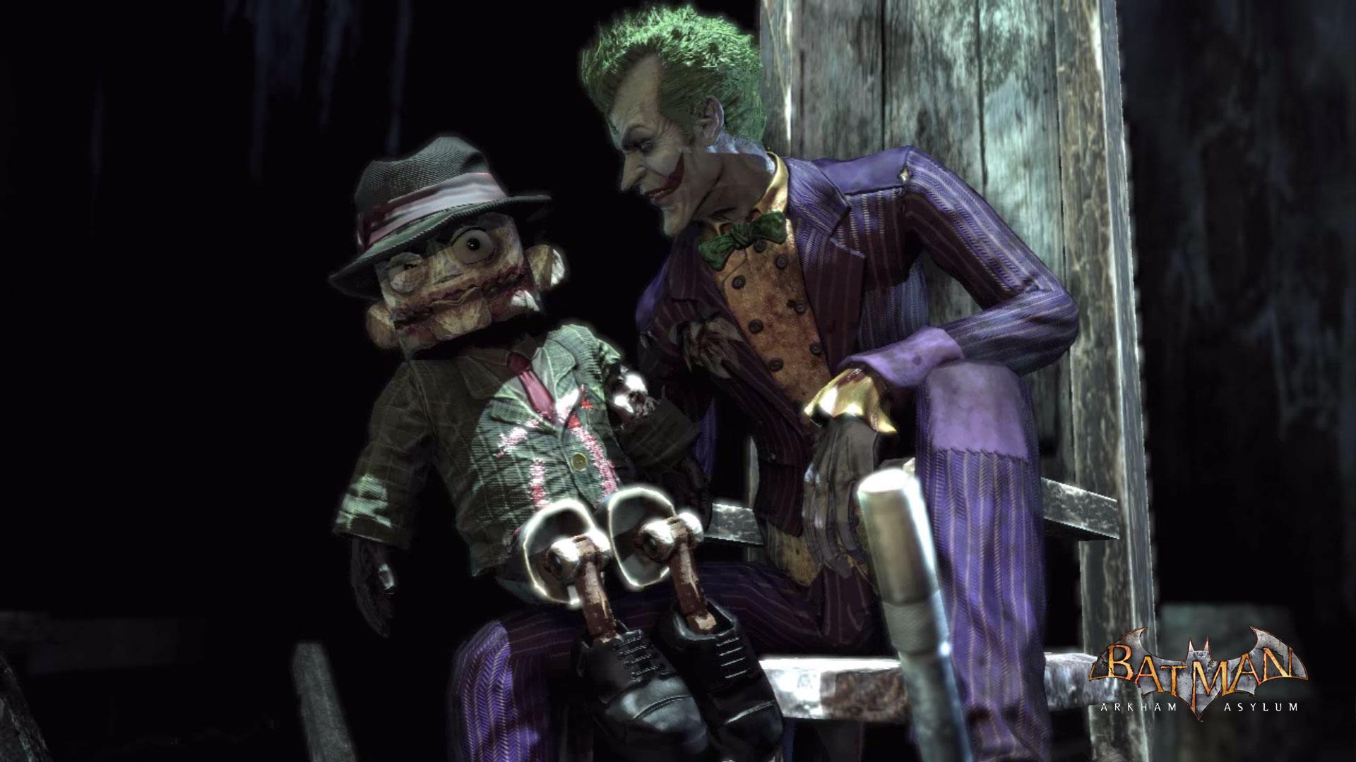 Batman Arkham Asylum   Joker Scarface puppet 1920x1080 wallpaper 1920x1080