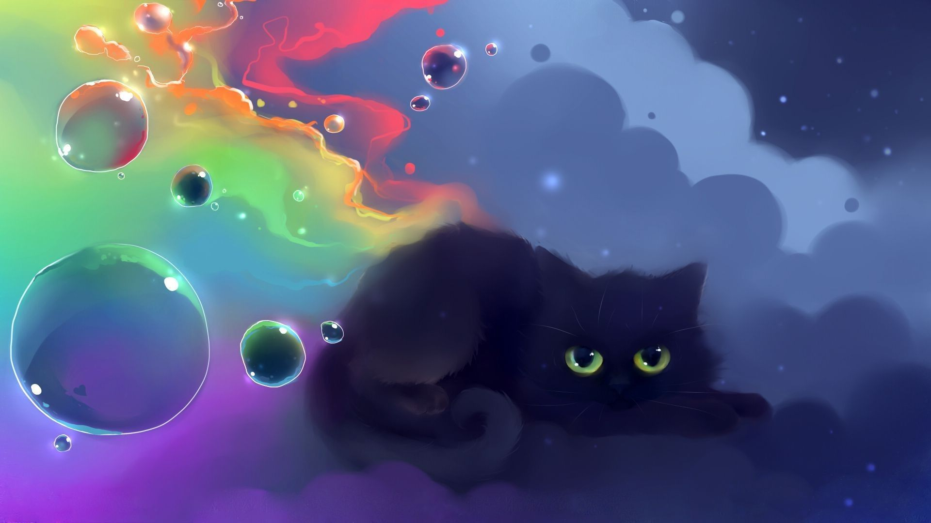 1920x1080 Cute Black Cat Wallpaper   HVGJ Wallpapers in 2019 1920x1080