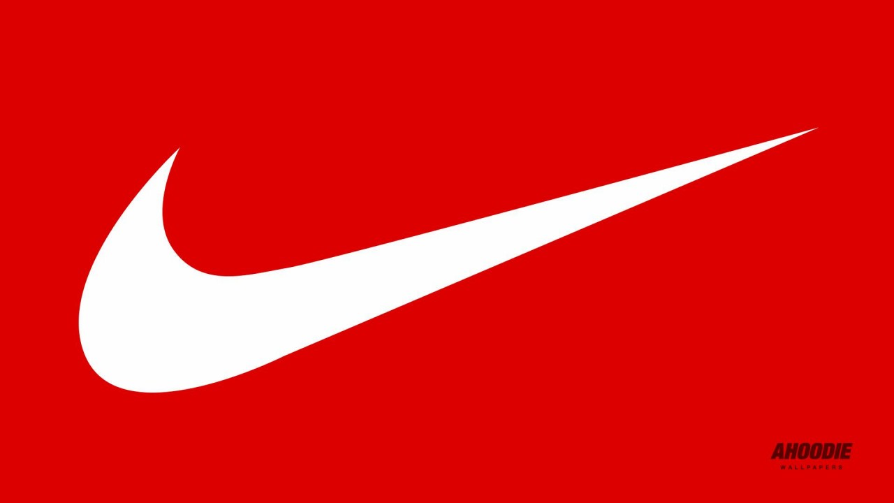red Nike logo colouring pages 1280x720