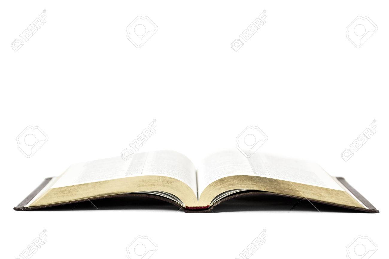 Open Bible Book Isolated On White Background Stock Photo Picture 1300x866