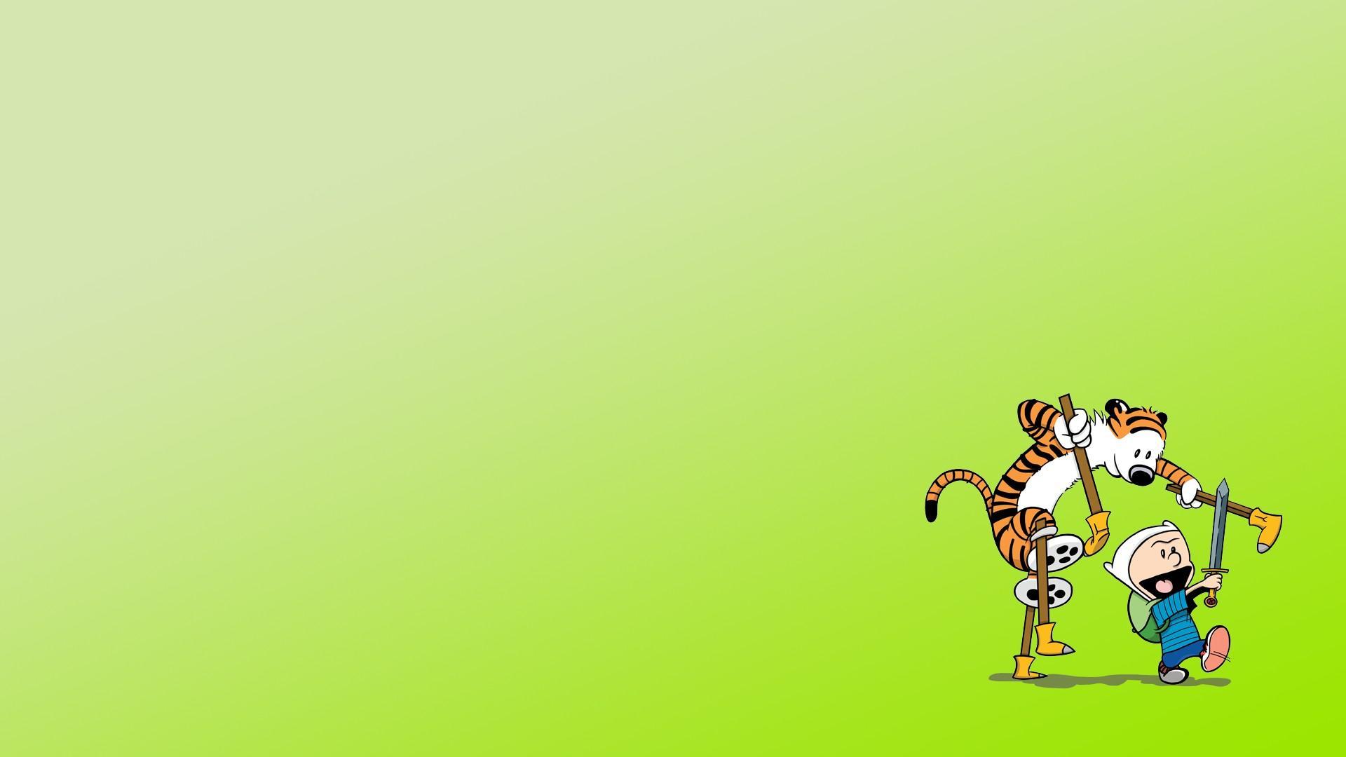 Finn and jake calvin hobbes cartoon network wallpaper 87354 1920x1080