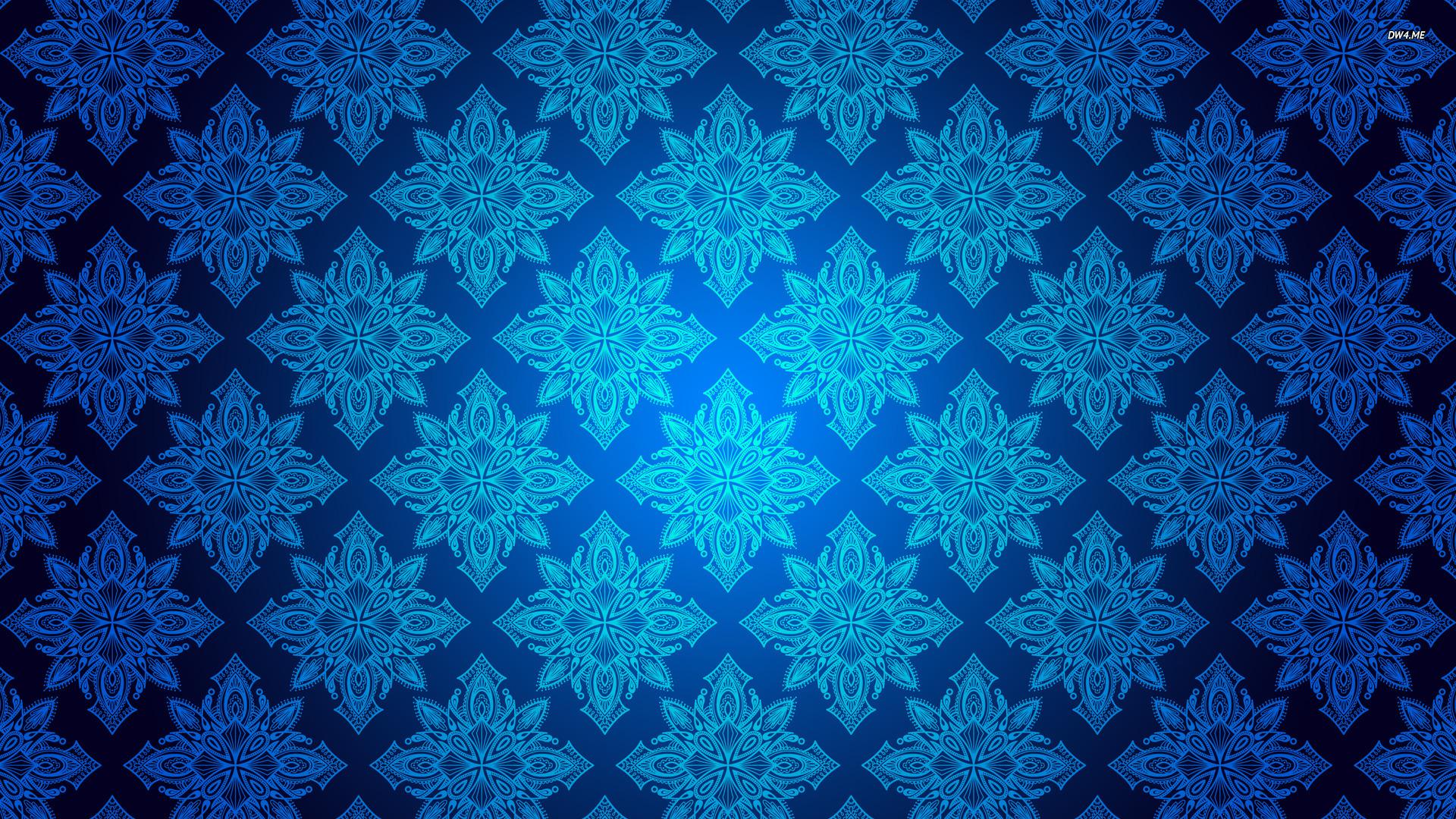 Blue vintage pattern wallpaper   Vector wallpapers   864 1920x1080