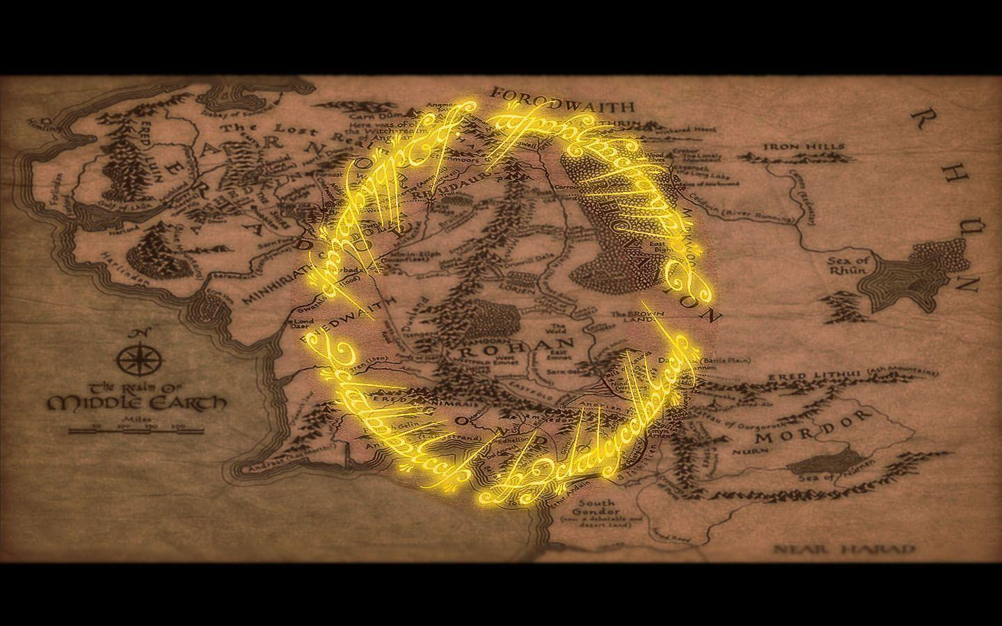 Map Of Middle Earth Wallpapers 1440x900