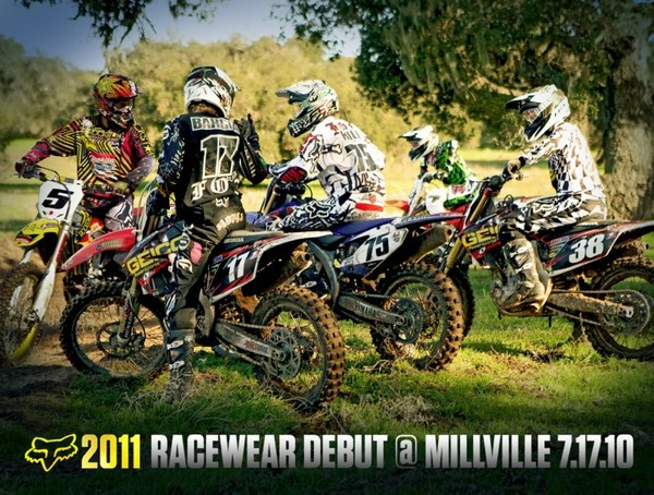 Fox MX News   2011 Racewear Debut At Millville   Press Releases 600x454