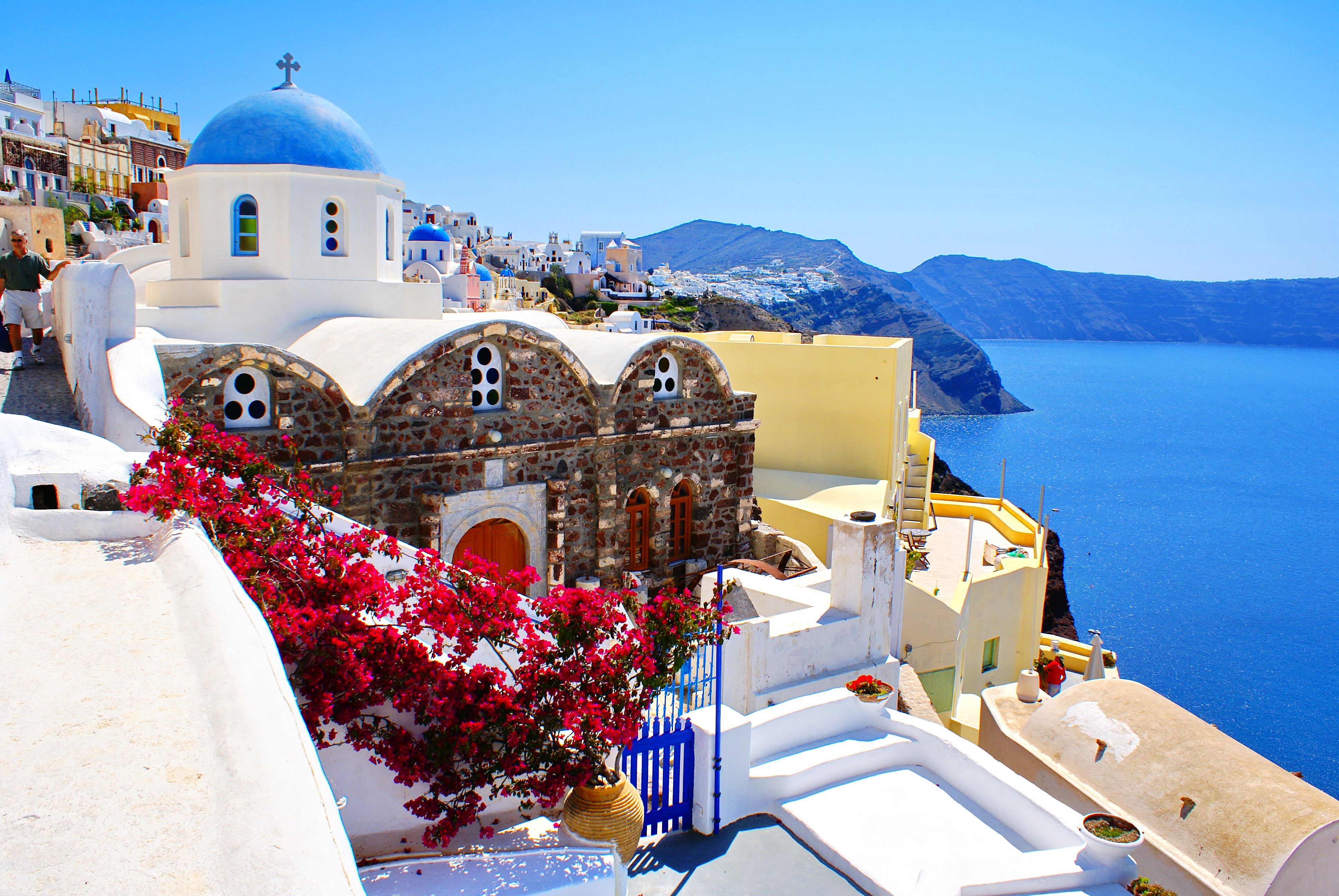 Santorini Wallpapers Pictures Images 3872x2592