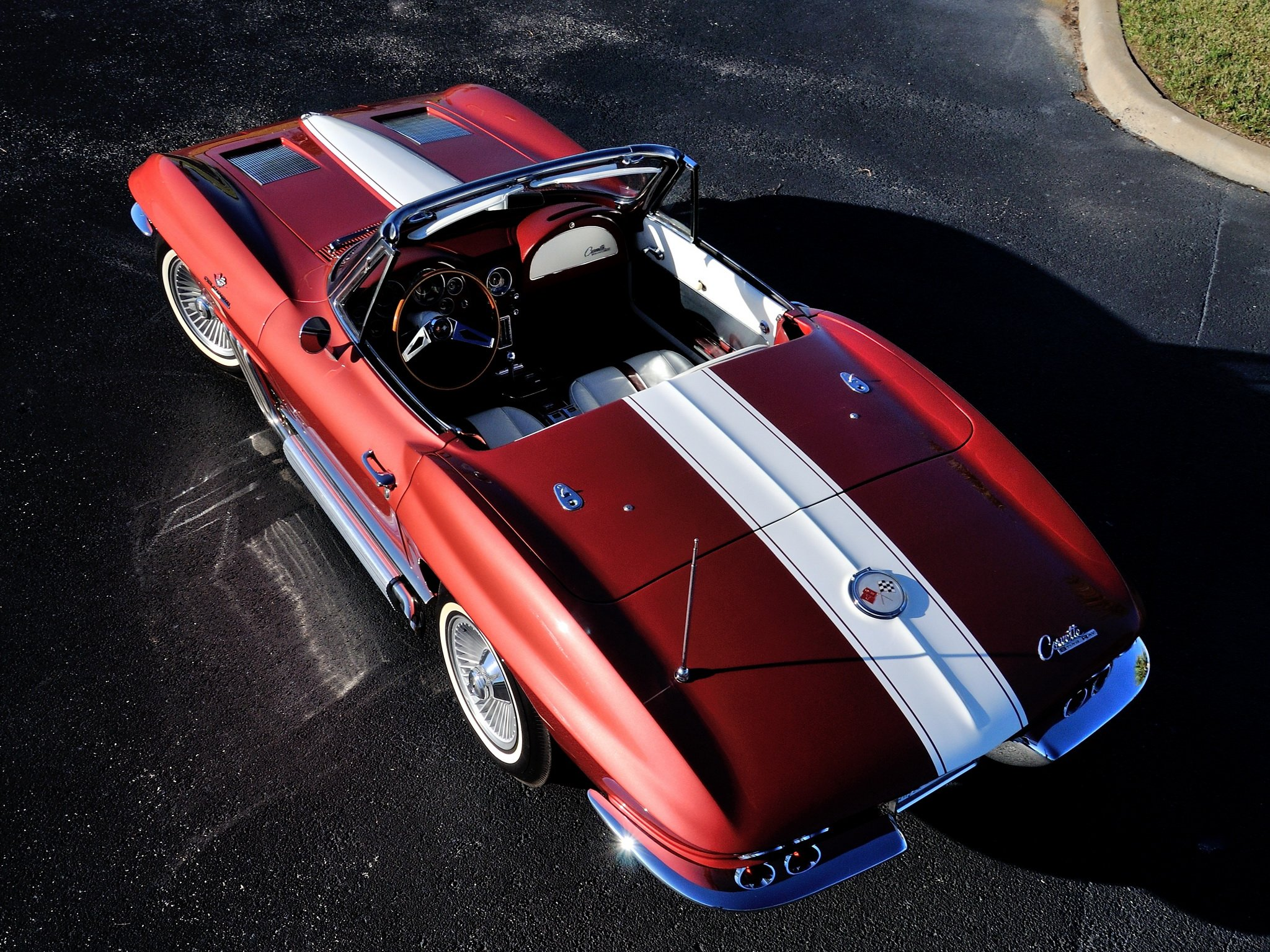 Sting Ray Convertible C 2 muscle supercar classic stingray wallpaper 2048x1536