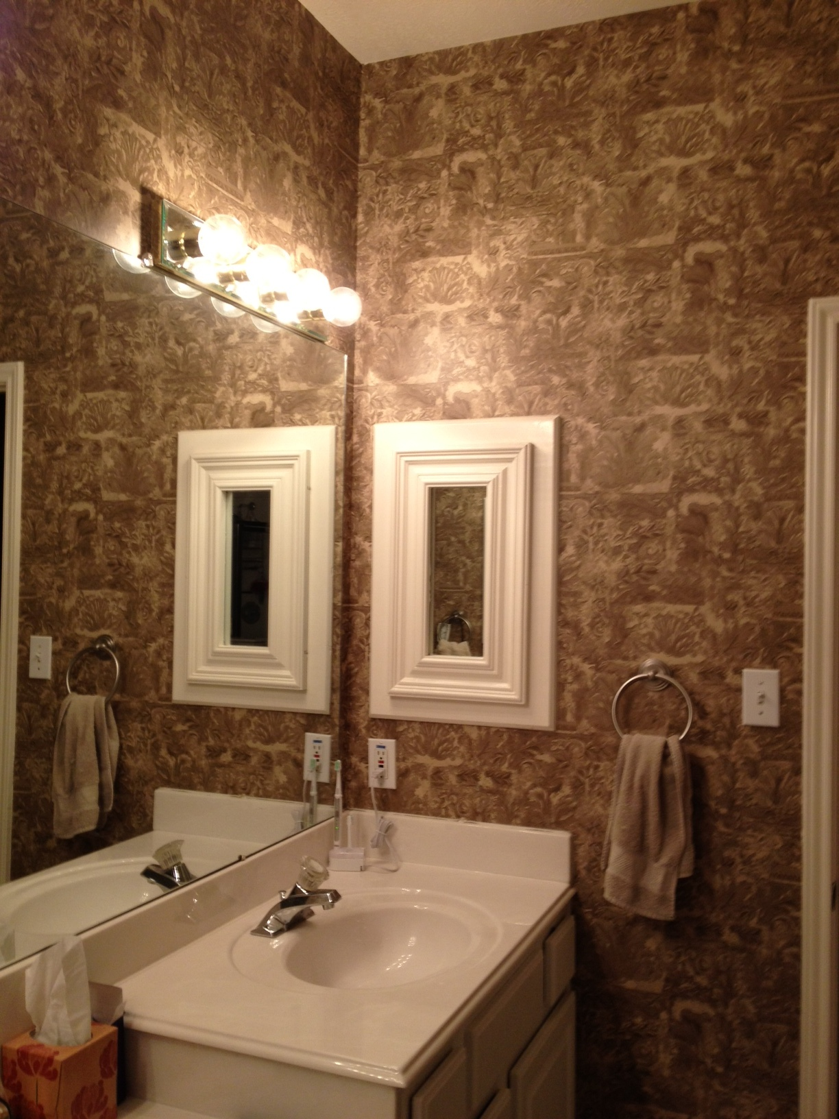 Master bathroom wallpaper HELP bath2jpg 1224x1632