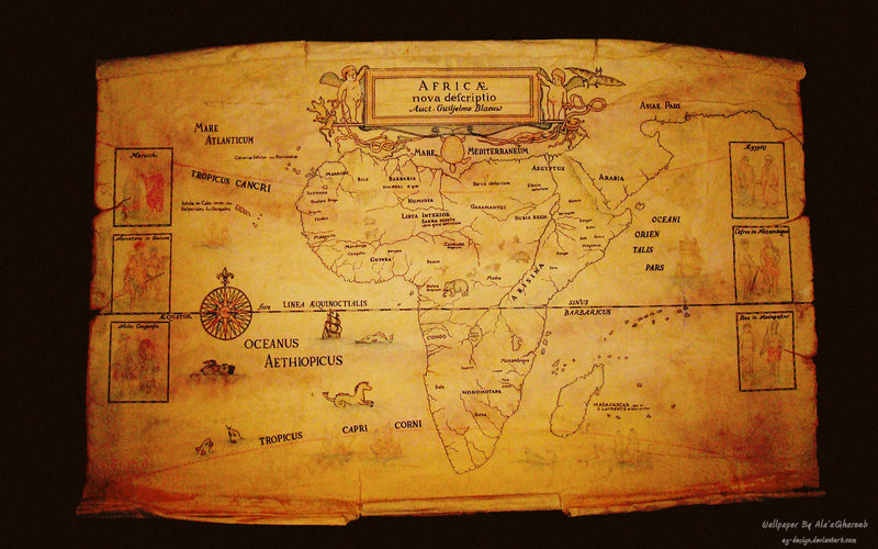 Africa map Wallpaper by ag design 800x500