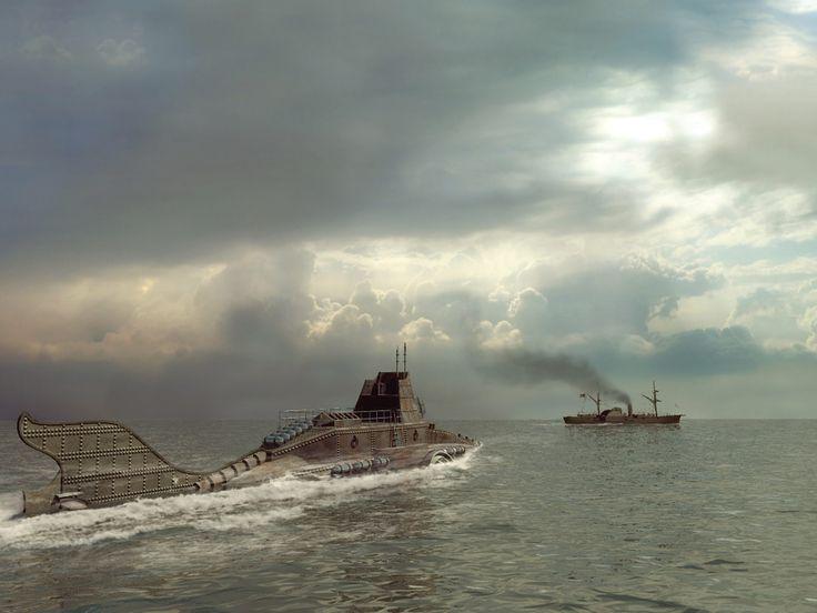 Nautilus Captain Nemos submarine Things Pinterest 736x552
