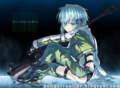 GGO Mobile Wallpaper Gun Gale Online Anime Mobile Wallpaper HD 500x368
