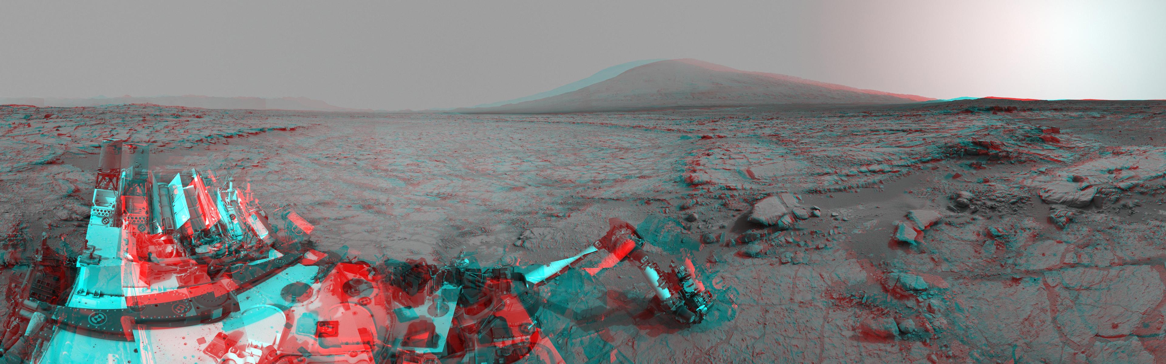 Curiosity Mars Rover Alien Landscape Machine NASA 3D multi dual 3840x1200