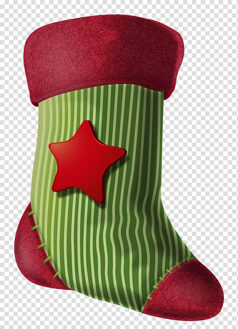 Green and red star print Christmas sock Christmas ing 800x1108