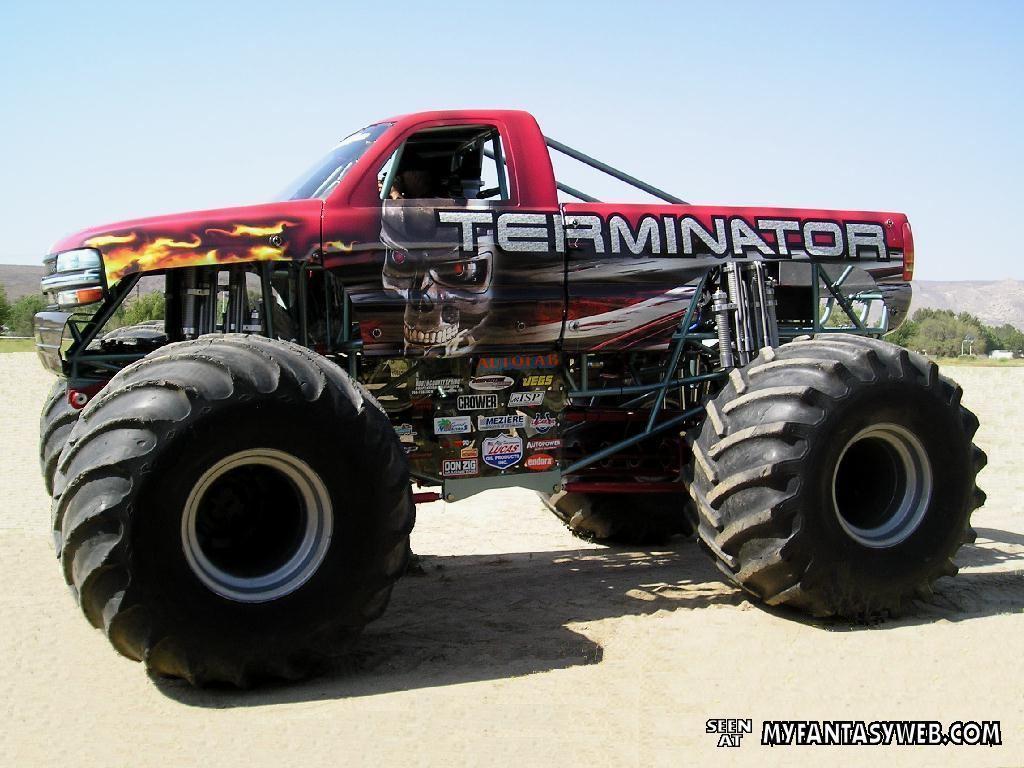 Pics Photos   Terminator Monster Truck Wallpaper 1024x768