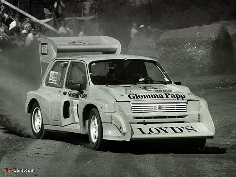 Wallpapers of MG Metro 6R4 Group B Rally Car 198486 800 x 600 800x600