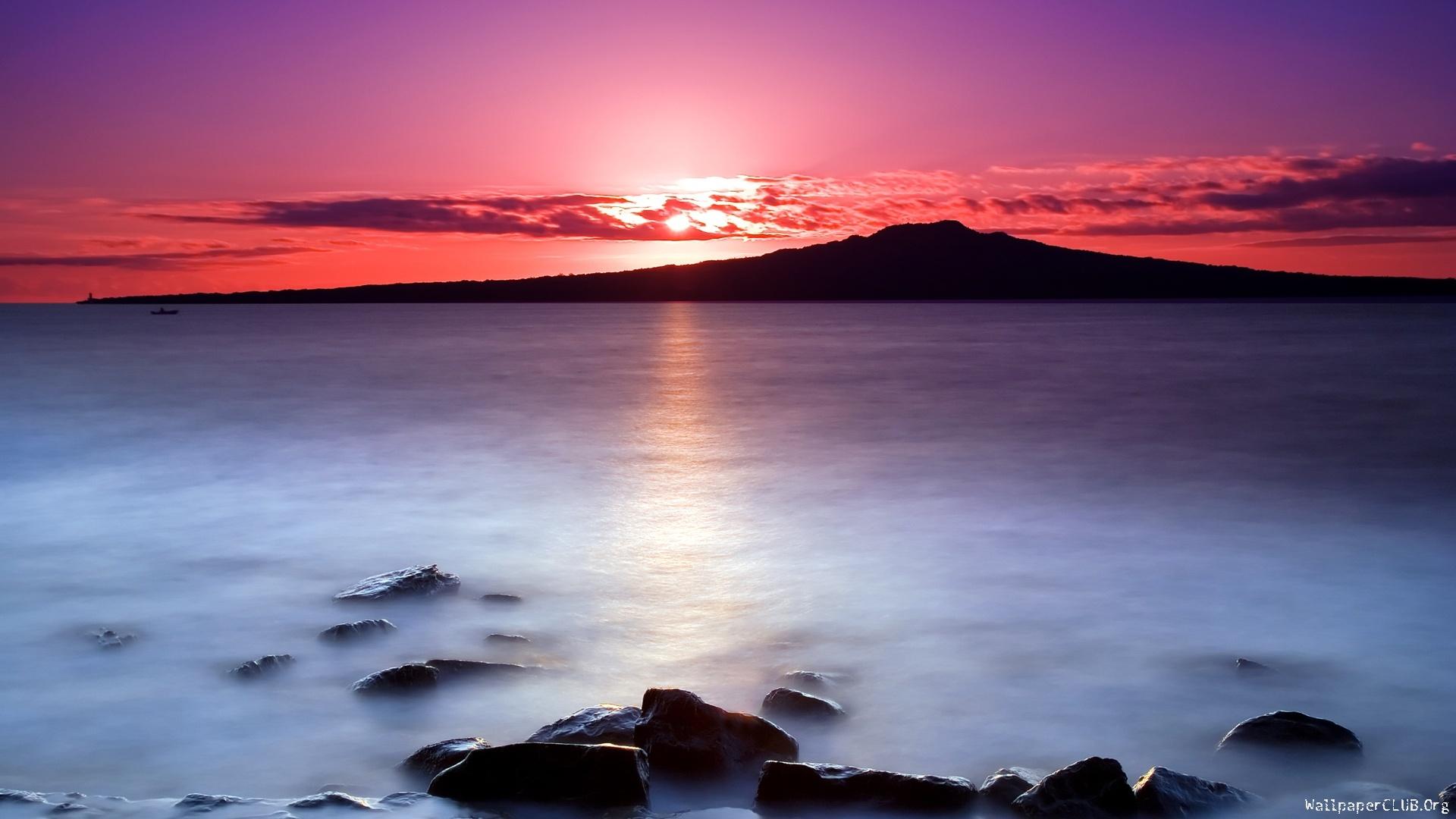 Sunset Nature Picture HD Wallpaper WallpaperLepi 1920x1080
