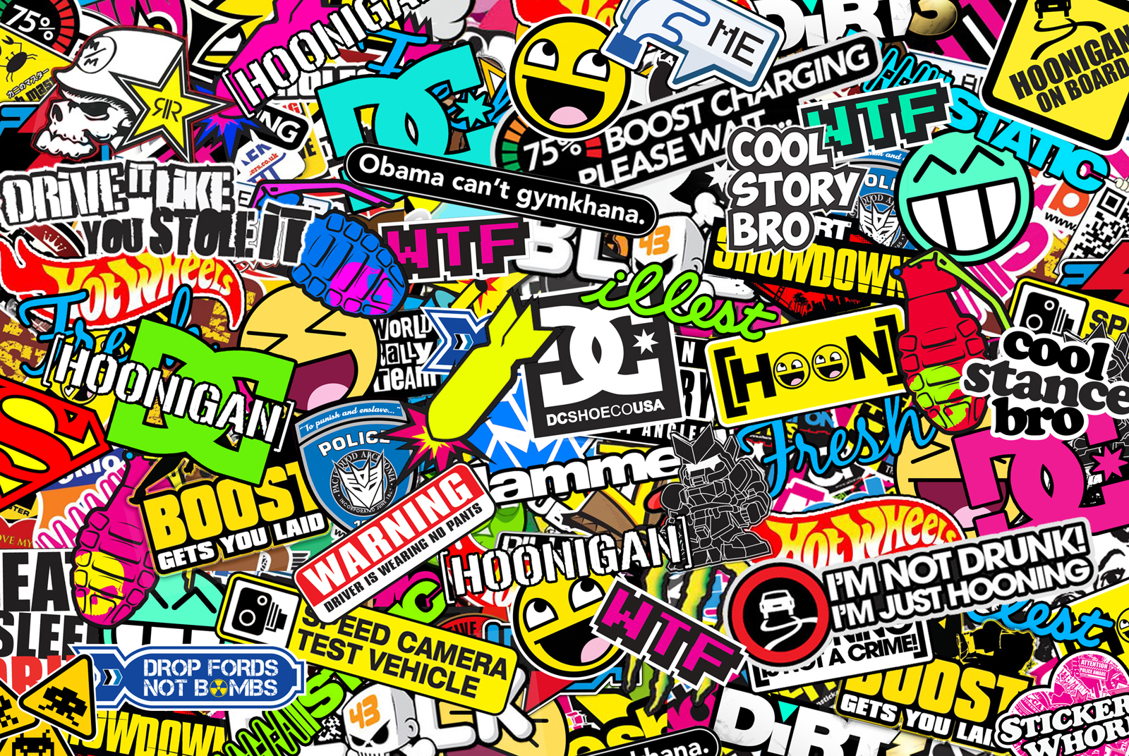 Hoonigan sticker bombing by bora888 1600x1072