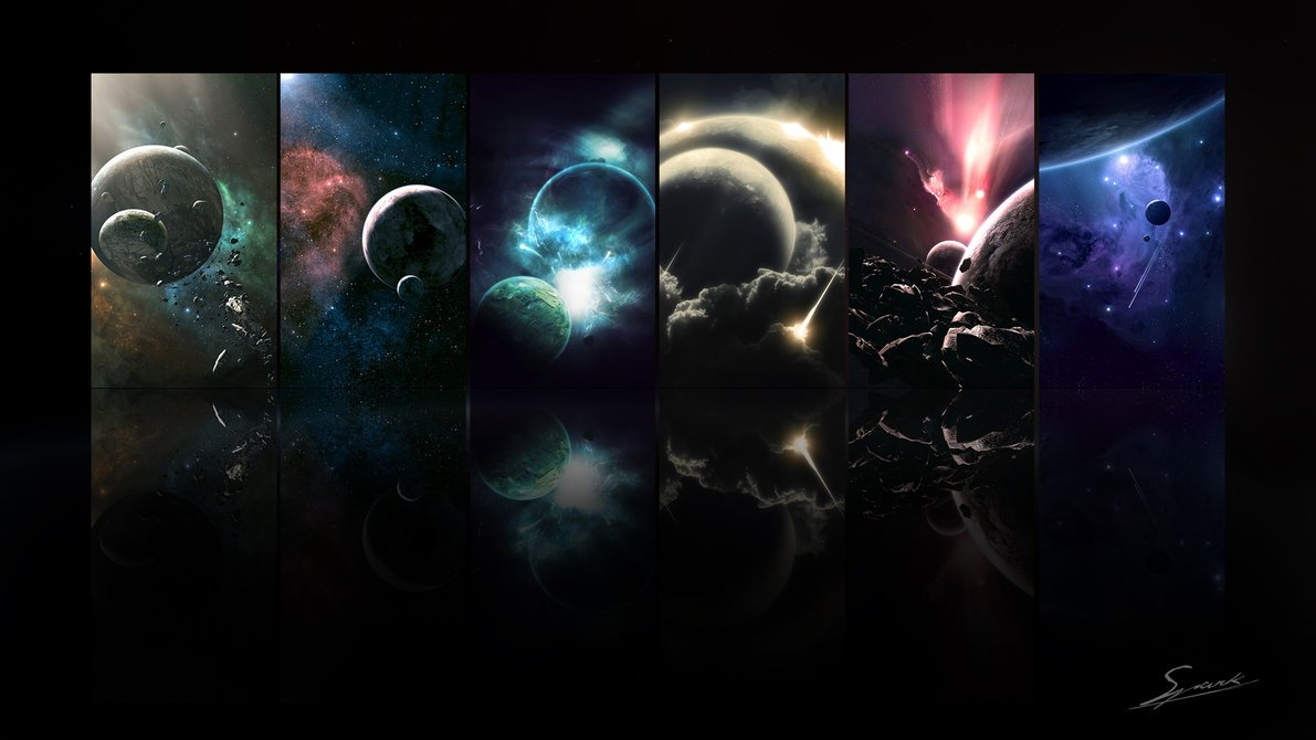 Space panorama wallpaper HD by Arceee 1191x670