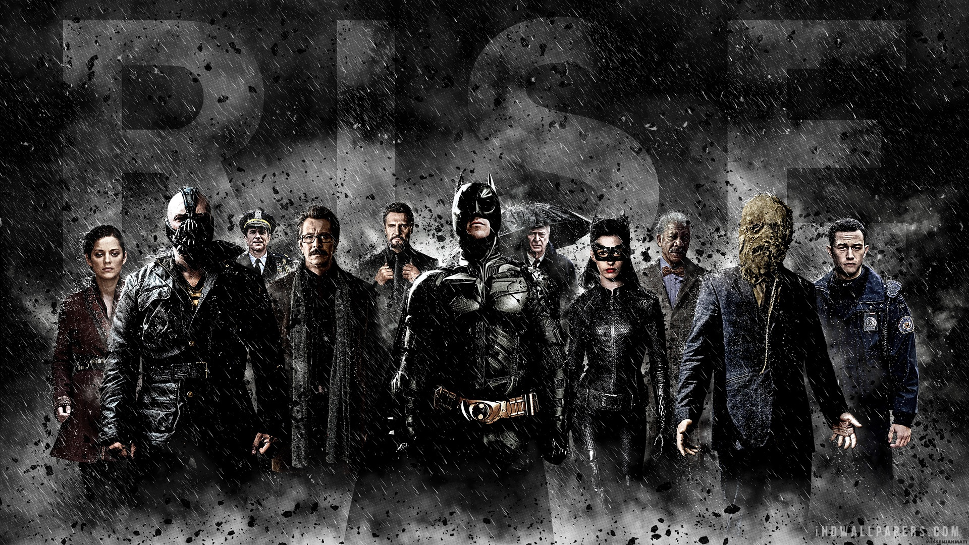 The Dark Knight Rises Cast HD Wallpaper   iHD Wallpapers 1920x1080