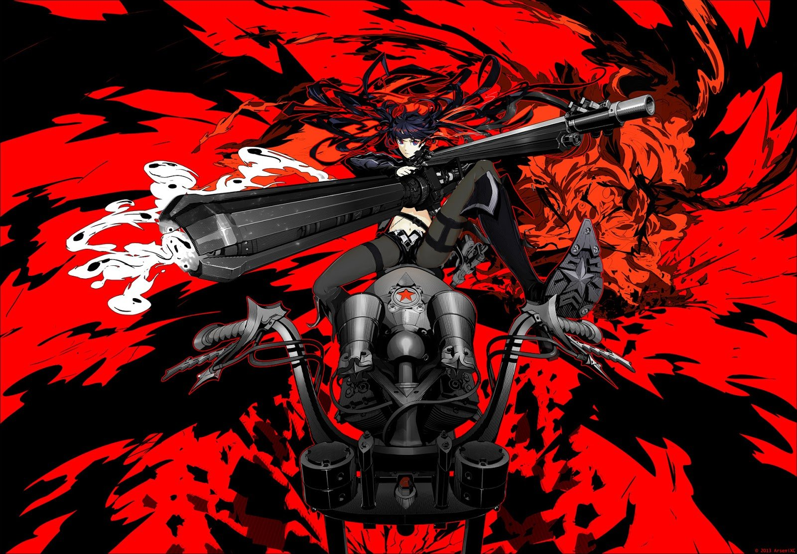 red and black anime wallpaper