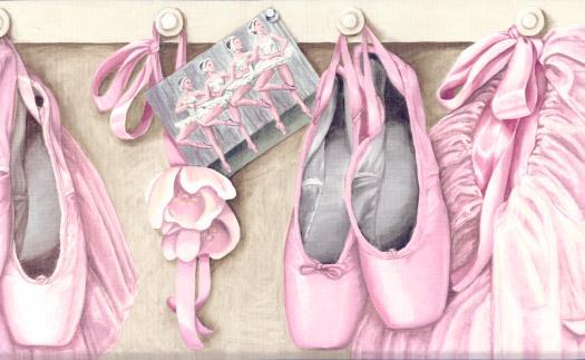 Pink Ballet Wallpaper Border IN2681B 525x323
