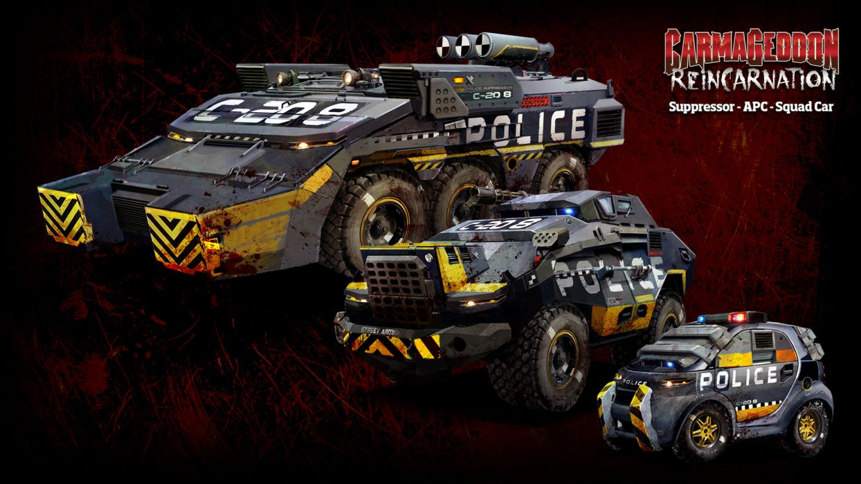 Carmageddon Reincarnation game police g wallpaper 1920x1080 1244x700