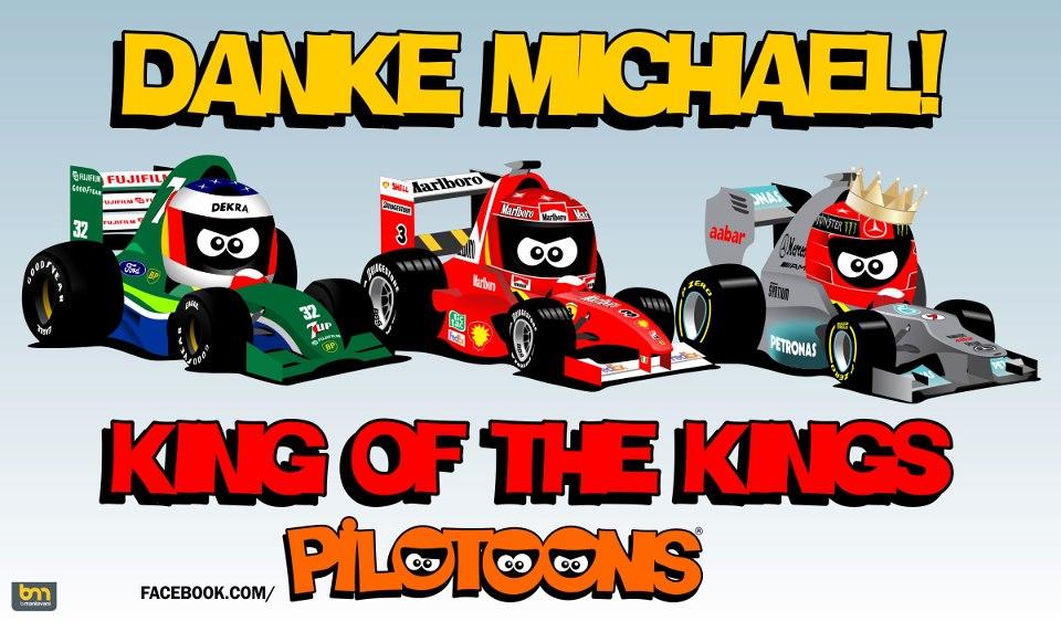 Formula 1 em Cartoons   Tributo a Michael Schumacher Pilotoons 960x562