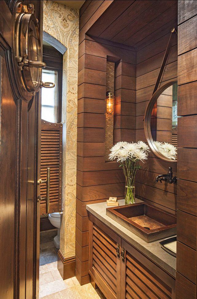 Eclectic Powder Room with specialty door Wallpaper Zillow Digs 642x971