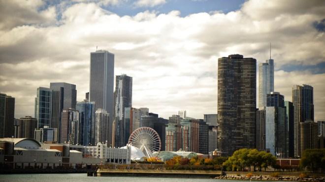 40 chicago skyline hd wallpaper on wallpapersafari - Chicago skyline wallpaper 1920x1080 ...