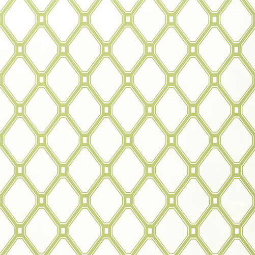 Lattice Wallpaper In Green On White and Artwork in Decor Wallpaper 501x500