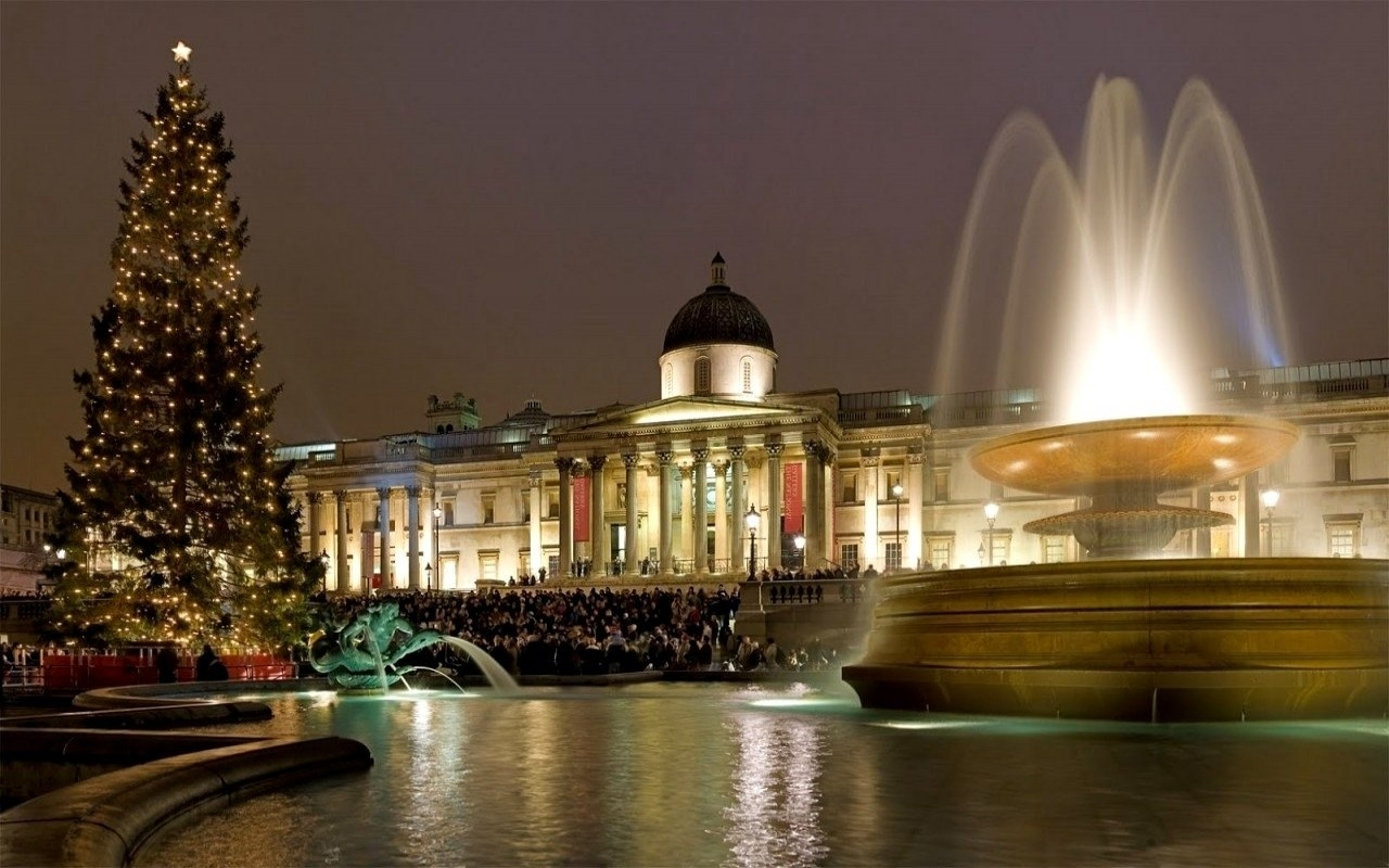 Christmas At Trafalgar Square London 1280 x 800 Download Close 1280x800