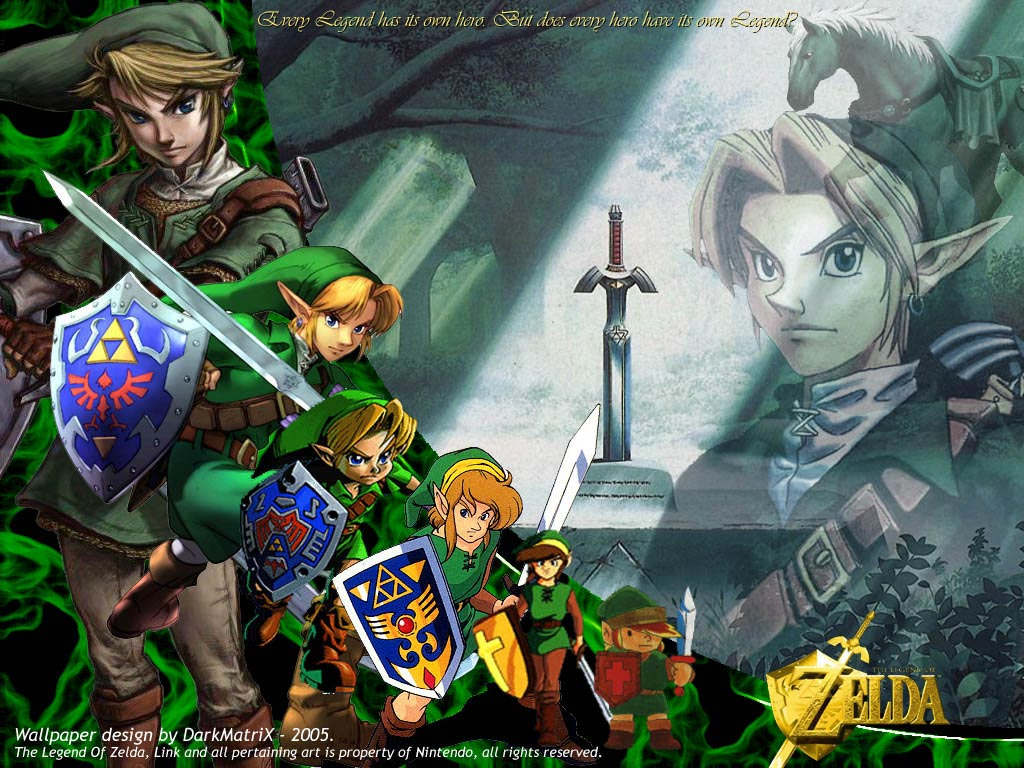 es una coleccin de wallpapers del videojuego The Legend Of Zelda 1024x768