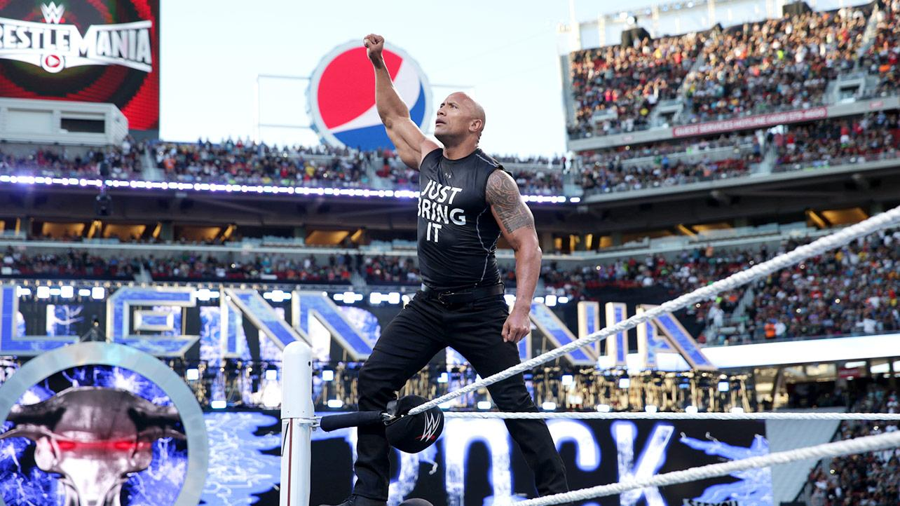 The Rock In Wrestlemania HD Wallpaper   Stylish HD Wallpapers 1284x722