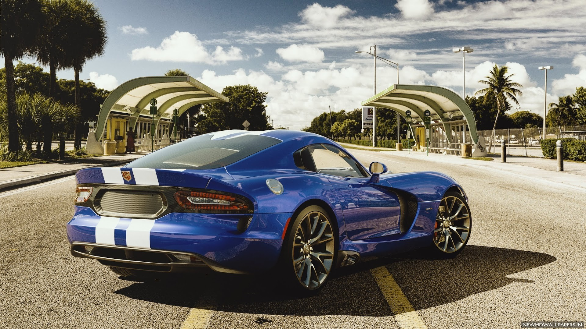 Dodge Viper GTS Blue Car Wallpaper   New HD Wallpapers 1920x1080