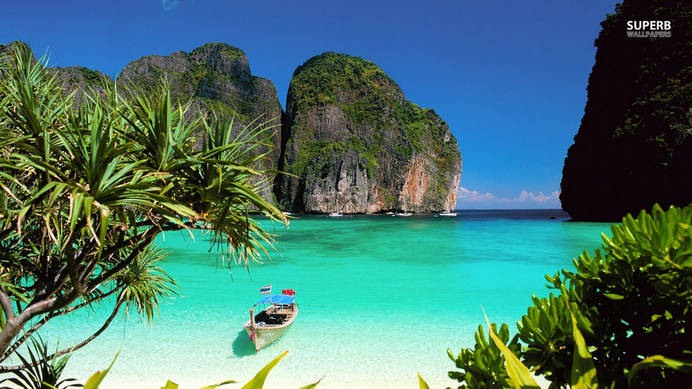 Thailand Beaches And Islands   wallpaper 1366x768