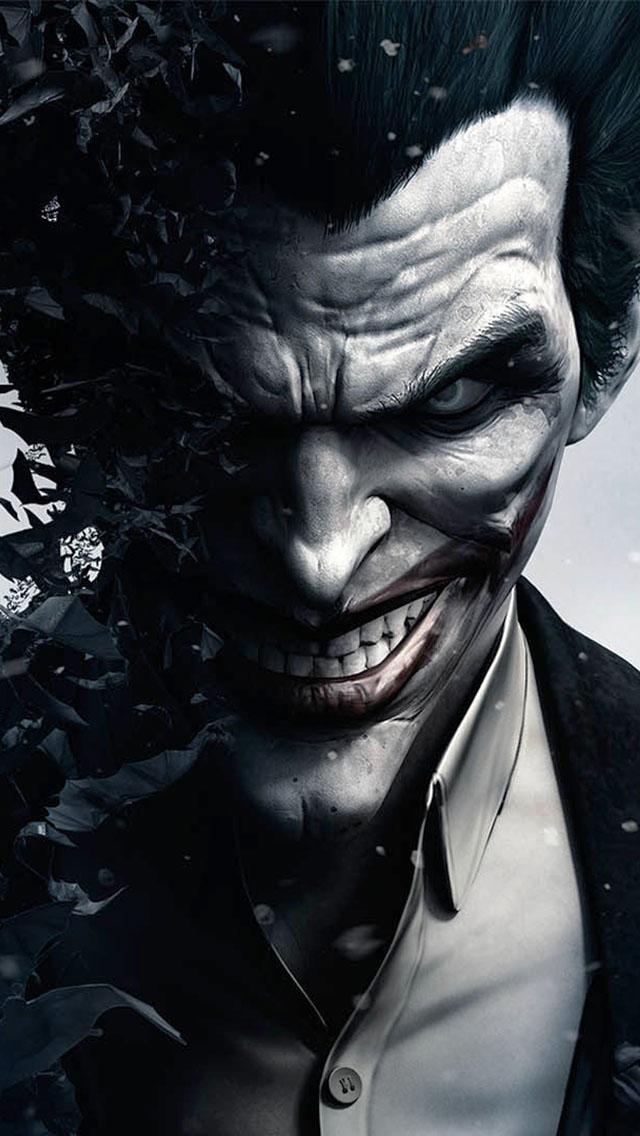 Cool Joker Iphone Wallpapers joker in batman arkham origins   the 640x1136