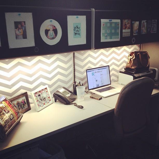 cubicle wallpaper chevron