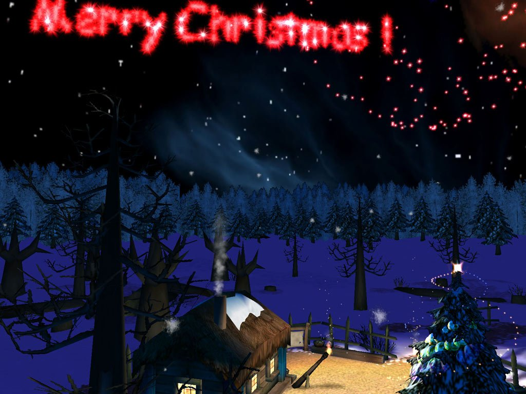 Chritmas Night 3D Screensaver visit Santas house and let your wishes 1024x768