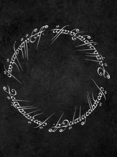 LOTR Ring Carvings screensaver for Amazon Kindle 3 375x500