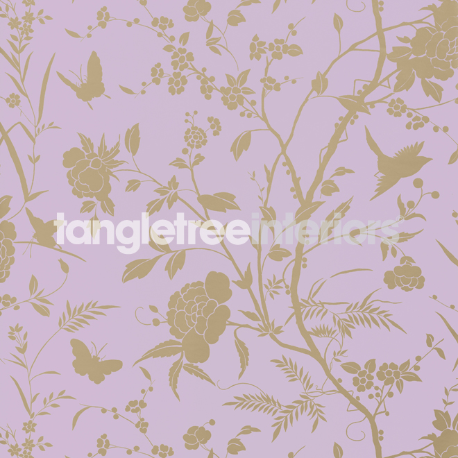 Liang wallpaper from Thibaut   T36178   Lavender with Metallic Gold 660x660