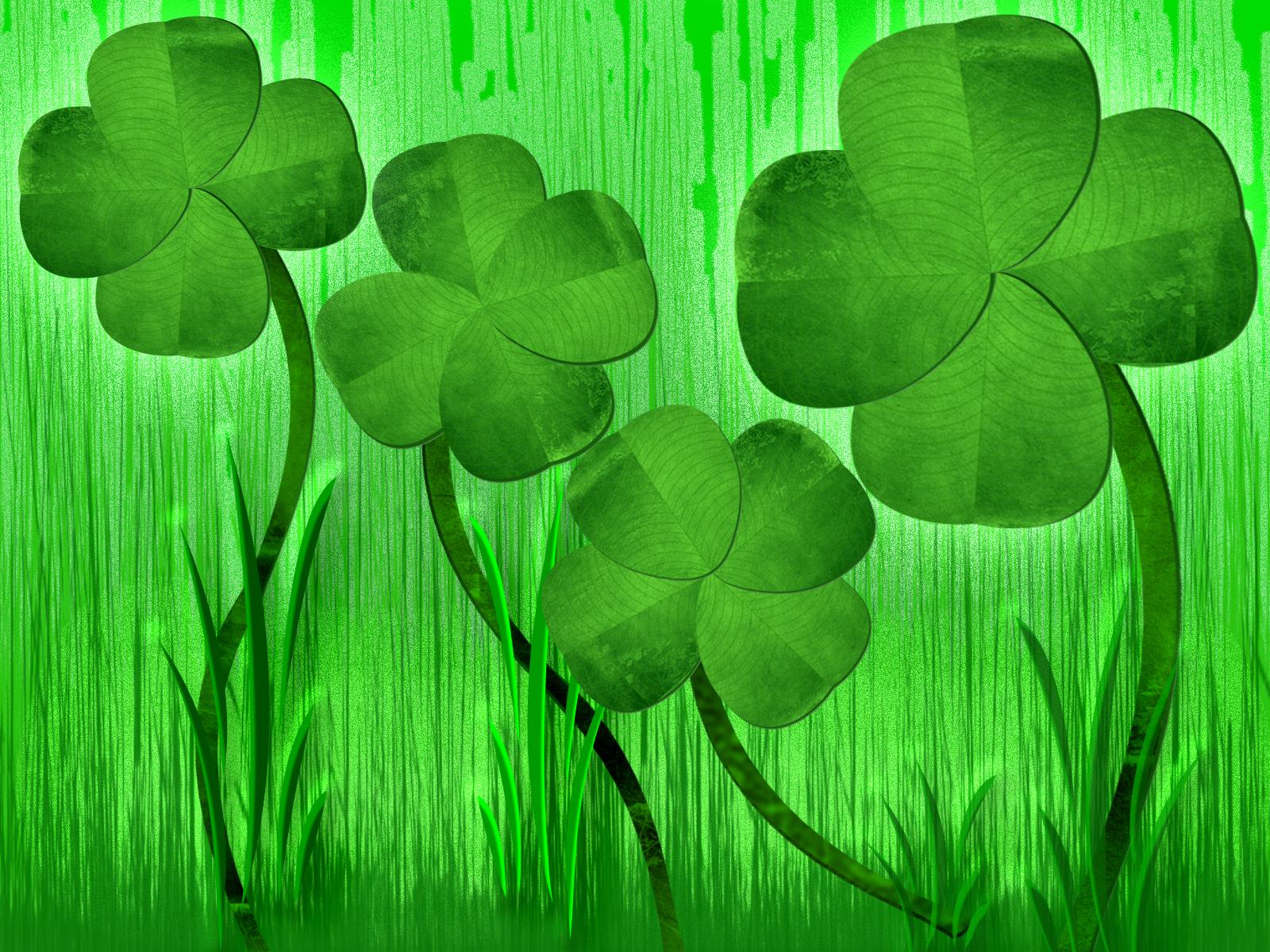 57] Four Leaf Clover Background on WallpaperSafari 1600x1200