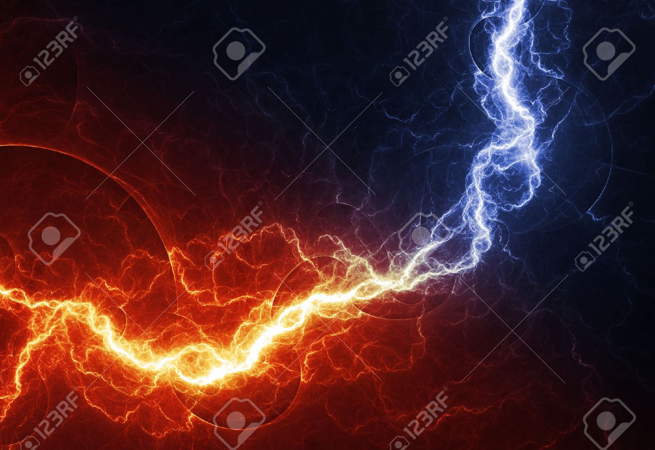 Fire And Ice Abstract Lightning Background Clash Of The Elements 1300x893